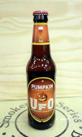 The UFO Pumpkin (5.90% ABV)is a Pumpkin Ale brewed by Harpoon Brewery out of Massachusetts.  This beer can be purchased locally at Millers Liquor and Spec's.   Photo taken: Randy Edwards/The Enterprise