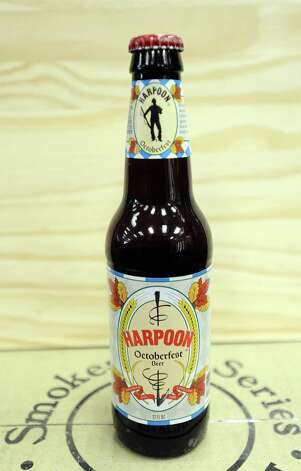 The Harpoon Octoberfest Beer (5.30% ABV) is an Oktoberfest styled beer brewed by Harpoon Brewery out of Massachusetts.  This beer can be purchased locally at Millers Liquor and Spec's.   Photo taken: Randy Edwards/The Enterprise