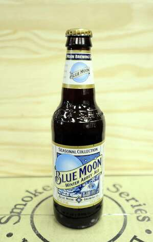 The Blue Moon Winter Abbey Ale (5.60% ABV) is a Dubbel styled beer brewed by Coors Brewing Company out of Colorado.  This beer can be purchased locally at Millers Liquor, Debb's Liquor (St. Charles Plaza), and Spec's.   Photo taken: Randy Edwards/The Enterprise