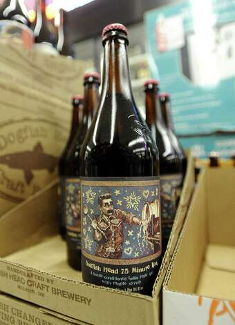 The Dogfish Head 75 Minute IPA (7.50% ABV) was recently brought out of retirement this holiday season.  This beer is an American Double/ Imperial IPA that also has a taste of maple.  This beer will be hard to find in the area, but Spec's will be your best bet.   Photo taken: Randy Edwards/The Enterprise