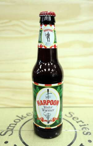 The Harpoon Winter Warmer (5.90% ABV) is a Winter Warmer style beer brewed by Harpoon Brewery out of Massachusetts. This beer can be purchased locally at Millers Liquor and Spec's.   Photo taken: Randy Edwards/The Enterprise