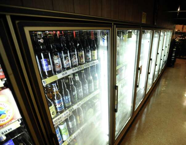 Debb's Liquor in the St. Charles Plaza has a growing selection of craft beer.   Photo taken: Randy Edwards/The Enterprise