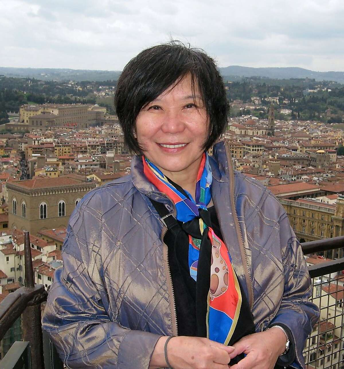 Asian Art Museum director emerita Emily Sano in Florence, Italy, 2012. [Since 2008, Sano has managed Oracle founder Larry Ellison's collection of Japanese art]