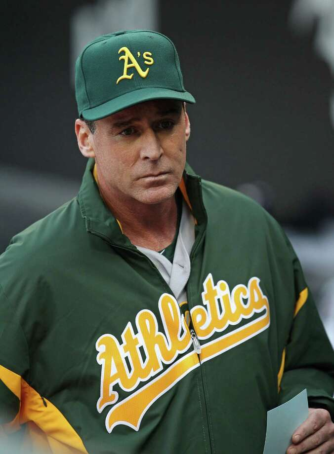 CHICAGO, IL - JUNE 09:  Bob Melvin #6, today named interim manager of the Oakland Athletics, waits in the dugout for a game against the Chicago White Sox at U.S. Cellular Field on June 9, 2011 in Chicago, Illinois.  (Photo by Jonathan Daniel/Getty Images) Photo: Jonathan Daniel, Staff / 2011 Getty Images