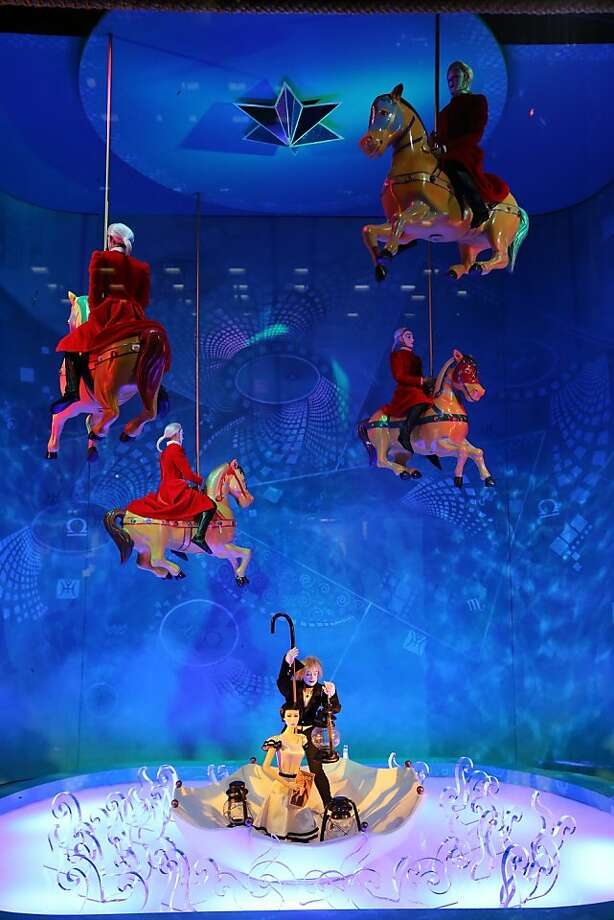 Bloomingdale's 59th Street unveils the 2012 Holiday Windows with a Cirque Du Soleil performance at Bloomingdale's 59th Street on November 13, 2012 in New York City. Photo: Neilson Barnard, Getty Images For Bloomingdale's