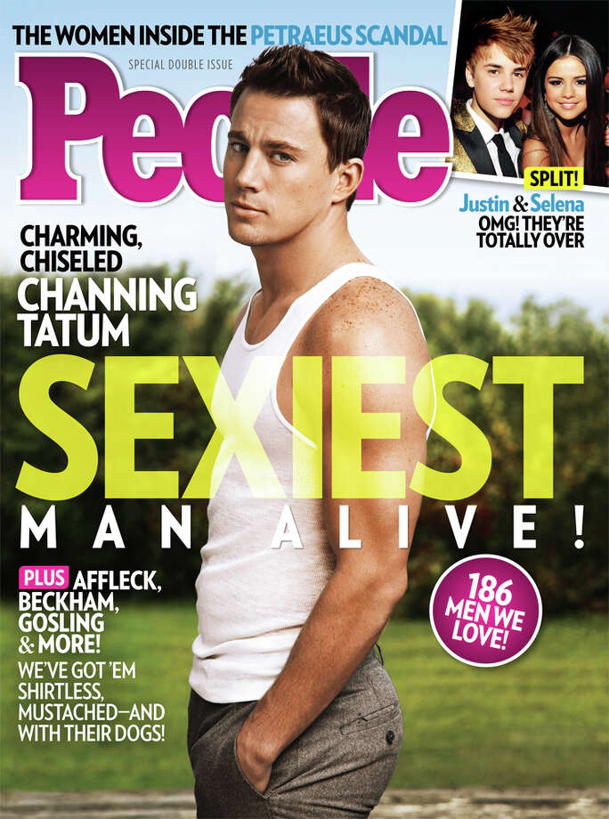 This magazine cover image released Wednesday, Nov. 14, 2012, by People shows actor Channing Tatum on the cover of People's Sexiest Man Alive special double issue. Photo: People