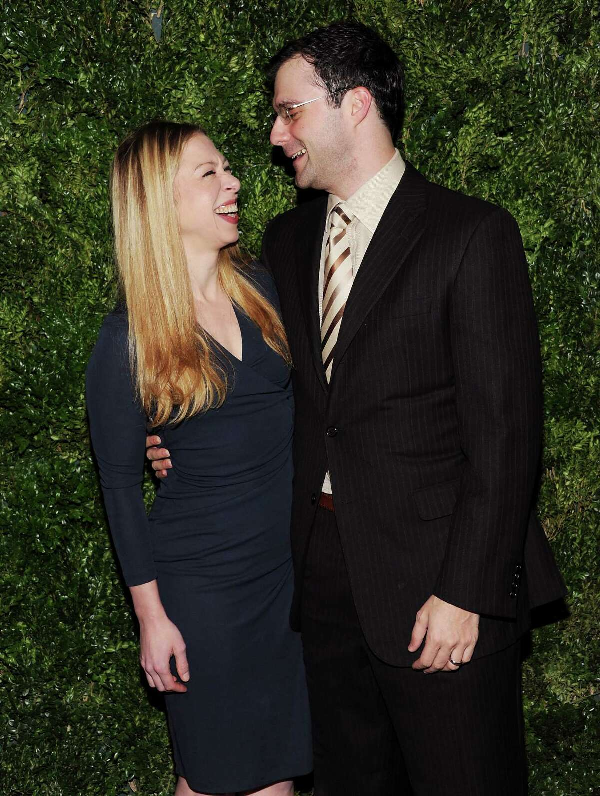 Chelsea Clinton and husband Marc Mezvinsky attend the 2012 CFDA / Vogue Fashion Fund Awards on Tuesday Nov. 13, 2012 in New York.