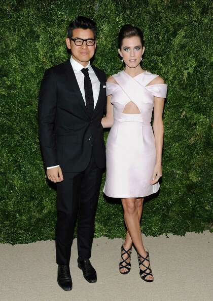 Designer Peter Som and actress Allison Williams attend the 2012 CFDA / Vogue Fashion Fund Awards on