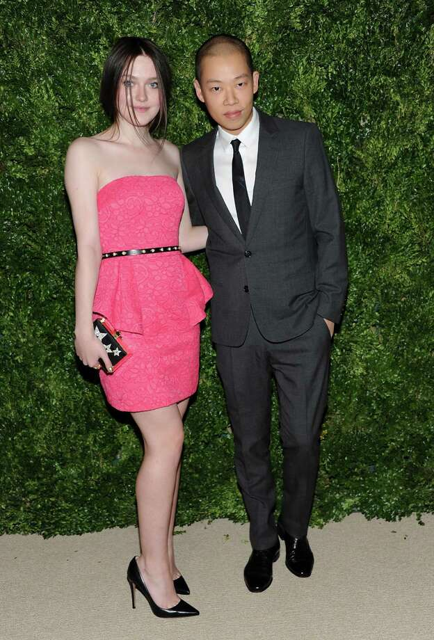 Actress Dakota Fanning and designer Jason Wu attend the 2012 CFDA / Vogue Fashion Fund Awards on Tuesday Nov. 13, 2012 in New York. Photo: Evan Agostini, Evan Agostini/Invision/AP / Invision