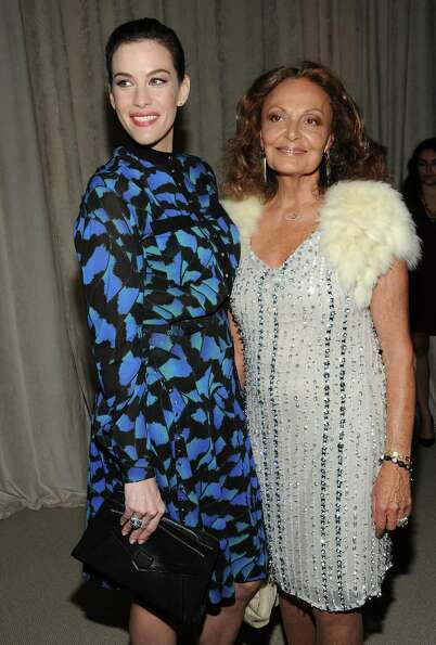 Actress Liv Tyler, left, and designer Diane von Furstenberg attend the 2012 CFDA / Vogue Fashion Fun