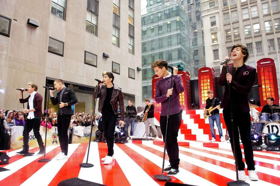 "One Direction members, from left, Niall Horan, Liam Payne, Zayn Malik, Louis Tomlinson and Harry Styles perform on NBC's ""Today"" show on Tuesday, Nov. 13, 2012 in New York. Photo: Charles Sykes, Charles Sykes/Invision/AP / Invision"