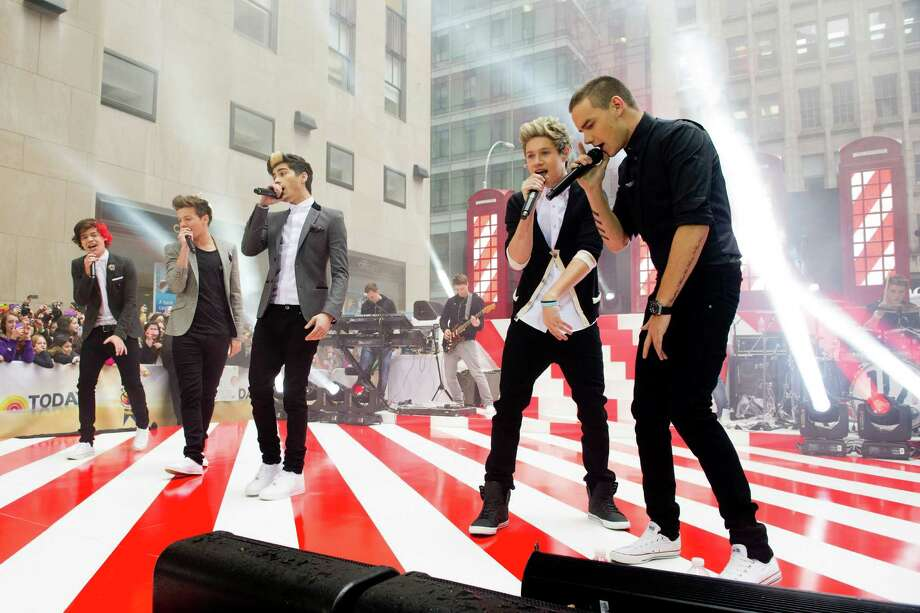 "One Direction members, from left, Harry Styles, Louis Tomlinson, Zayn Malik, Niall Horan and Liam Payne perform on NBC's ""Today"" show on Tuesday, Nov. 13, 2012 in New York. Photo: Charles Sykes, Charles Sykes/Invision/AP / Invision"
