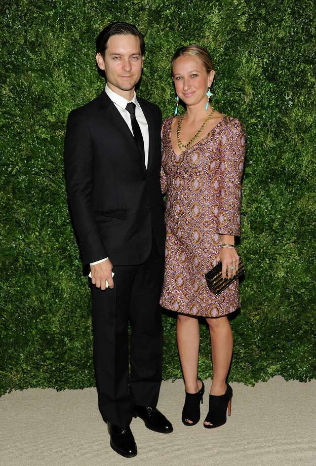 Actor Tobey Maguire and wife Jennifer Meyer attend the 2012 CFDA / Vogue Fashion Fund Awards on Tuesday Nov. 13, 2012 in New York. Photo: Evan Agostini, Evan Agostini/Invision/AP / Invision