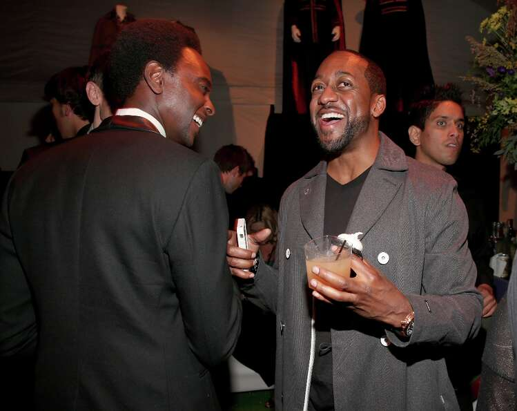 "Actors Edi Gathegi (L) and Jaleel White attend the premiere of Summit Entertainment's""The Twili"