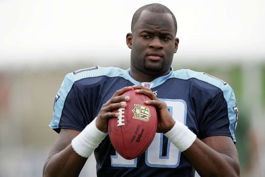 20. Vince Young | Tennessee Titans, 2006 | passer rating: 66.7In his rookie season, Vince Young was named the NFL's Offensive Rookie of the Year and was named to the Pro Bowl. In 2006, he threw 12 touchdowns to 13 interceptions, and finished his rookie year with a 66.7 passer rating as the Titans went 8-8. So far, by the numbers, Russell Wilson is performing better as a rookie. Photo: Paul Spinelli, Getty Images / 2006 Getty Images
