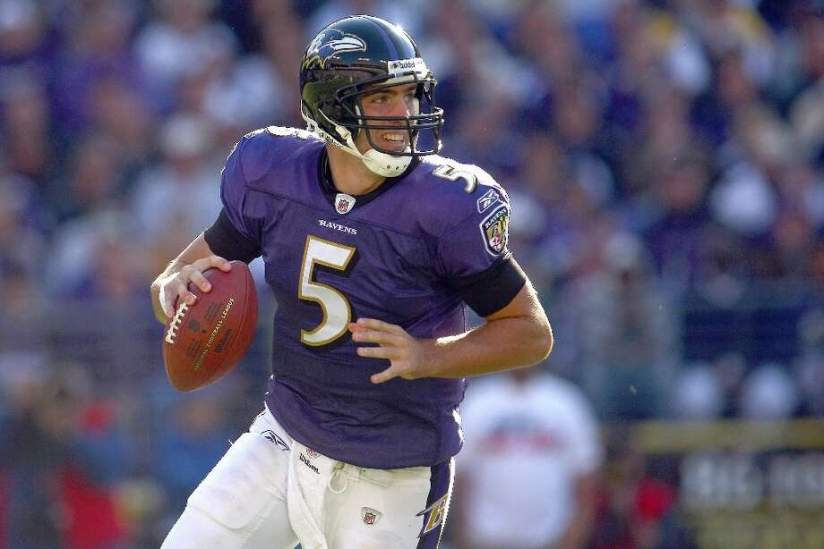 11. Joe Flacco | Baltimore Ravens, 2008 | passer rating: 80.3Joe Flacco may still being trying to prove himself as an elite NFL quarterback, but his career got off to a great start in 2008. He went 11-5 as a rookie, throwing 14 touchdowns and 12 interceptions, and completed 60.0 percent of his passing attempts. Flacco finished his rookie year with a passer rating of 80.3 — just missing the top 10 in this list. Photo: Chris McGrath, Getty Images / 2008 Getty Images