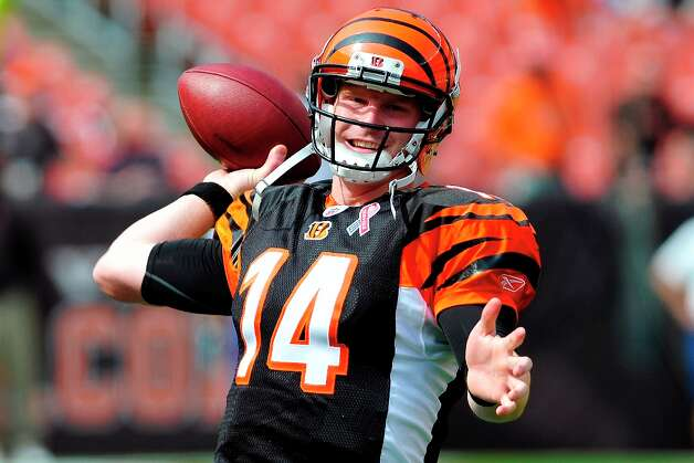 10. Andy Dalton | Cincinnati Bengals, 2011 | passer rating: 80.4The Bengals selected him in the second round with the 35th overall pick of the 2011 NFL draft, and Andy Dalton led Cincinnati to a 9-7 record his rookie season. In 2011, he threw 20 touchdowns and 13 interceptions, completing 58.1 percent of his passing attempts and finishing the season with an 80.4 passer rating. And he has improved in 2012. Photo: Jason Miller, Getty Images / 2011 Getty Images
