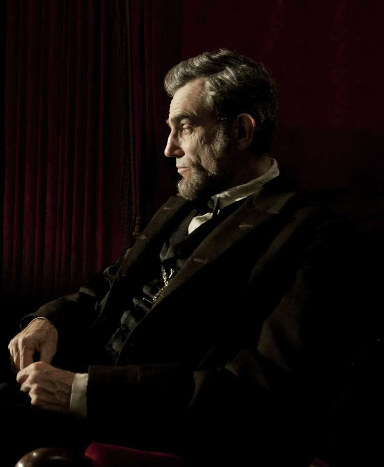 "Anthony Hopkins as ""Alfred Hitchcock,"" from left, Bill Murray as ""Franklin Roosevelt"" and Daniel Day-Lewis as ""Abraham Lincoln."" All are projected to be serious Oscar contenders this year. Photo: David James, SMPSP / ©DreamWorks II Distribution Co., LLC.  All Rights Reserved."