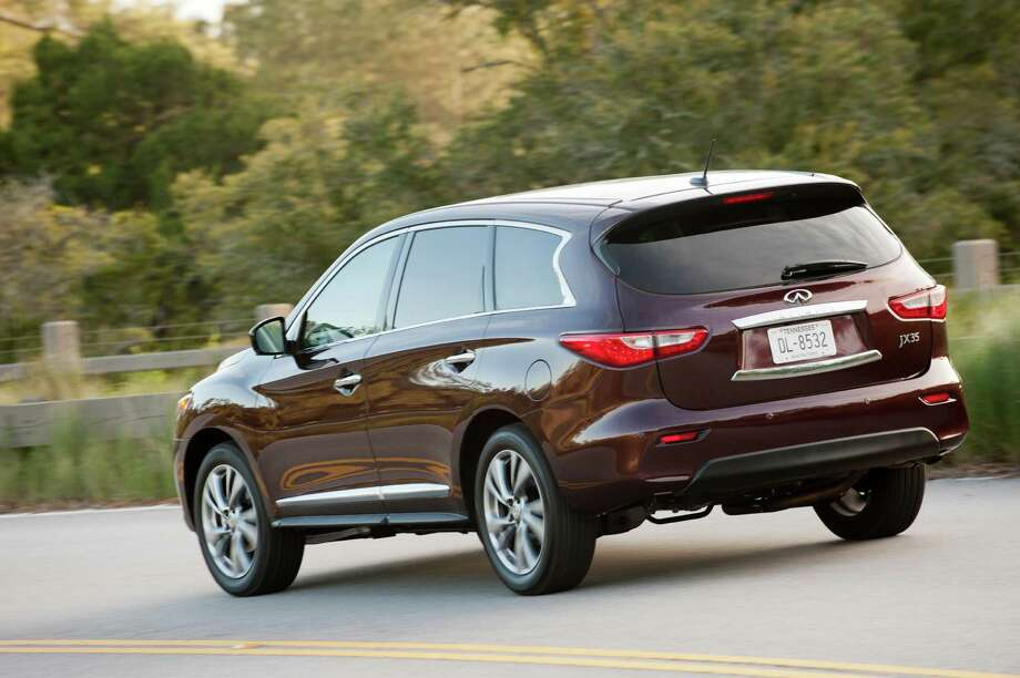 The first seven-passenger crossover in the Infiniti line, the JX, has arrived for 2013. It's similar to the redesigned 2013 Nissan Pathfinder, which essentially is a less-fancy version of the JX. 