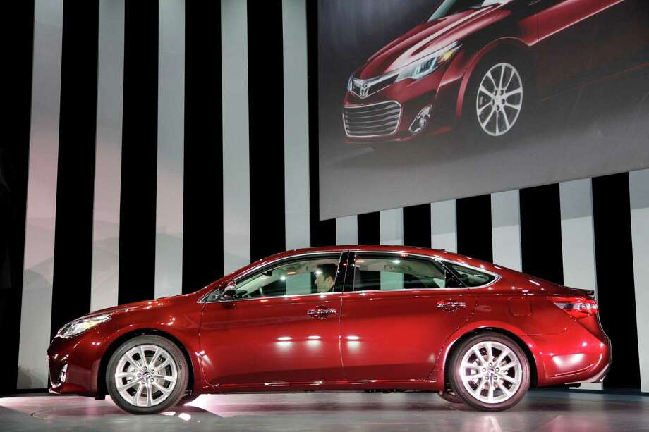 The 2013 Toyota Avalon is shown, Thursday, April 5, 2012 at the New York International Auto Show. (AP Photo/Mark Lennihan) Photo: Mark Lennihan, Wire Photos / AP