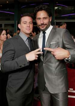 "Actors Channing Tatum and Joe Manganiello attend the premiere of ""Magic Mike"" at Regal Cinemas L.A. Live on Sunday, June 24, 2012, in Los Angeles. Photo: Todd Williamson, TODD WILLIAMSON/INVISION/AP / 2012 Invision"