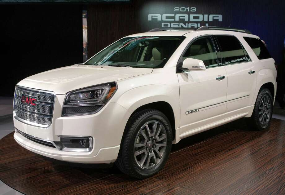 For 2013, GMC offers a choice of car-based crossover utility vehicles: the full-size Acadia and the compact Terrain. Introduced just last year and already a top-seller in its class.     The Acadia gets a mid-cycle makeover for 2013. It has a 3.6-liter V-6 engine rated at 275 horsepower, connected to a six-speed automatic transmission.     Front-wheel-drive Acadia models are EPA rated at 17 city/24 highway; the all-wheel-drive is 16/23. It can be configured for either seven or eight passengers. The Terrain is a five-passenger crossover built on the same architecture as the newest Chevy Equinox. Base models get a 2.4-liter, direct-injected four-cylinder engine rated at 22 city/32 highway; optional is a 264-horsepower V-6. Photo: GM, Wire Photos / © 2012 Tyler Mallory and General Motors. This image is protected by copyright but provided for use under a Creative Commons 3.0