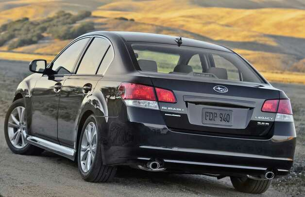 Subaru's Legacy sedan arrives for 2013 with upgrades that give it a smoother and quieter ride, sportier styling and greater agility. Photo: Wire Photos