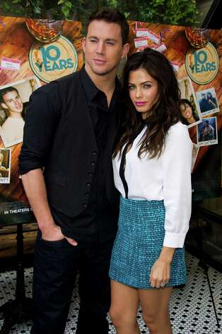 "Channing Tatum and Jenna Dewan-Tatum attend a brunch event for the new film ""10 Years"" on Sunday, Sept. 16, 2012 in New York. Photo: Charles Sykes, CHARLES SYKES/INVISION/AP / Invision"