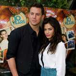 """Channing Tatum and Jenna Dewan-Tatum attend a brunch event for the new film """"10 Years"""" on Sunday, Sept. 16, 2012 in New York."""
