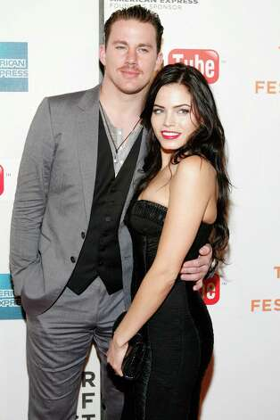 """NEW YORK - APRIL 26:  Actor/producer Channing Tatum (L) and actress/producer Jenna Dewan attend the premiere Of """"Earth Made Of Glass"""" during the 2010 Tribeca Film Festival at the Tribeca Performing Arts Center on April 26, 2010 in New York City. Photo: Amy Sussman, Getty Images For Tribeca Film Fe / 2010 Getty Images"""