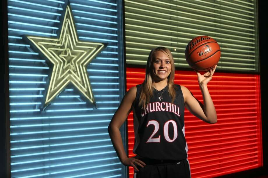 Leslie Vorpahl, Churchill: TulaneWINTER 2012 All Area Team: Leslie Vorpahl, Churchill basketball, photographed at the Institute of Texan Cultures. Helen L. Montoya/San Antonio Express-News (San Antonio Express-News)