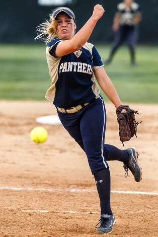 Kenedy Urbany, O'Connor: Angelo StateO'Connor's Kenedy Urbany throws to the plate during their 5A regional final game with Holmes at Northside Softball Field on May 25, 2012. O'Connor advanced to the state finals with a 9-2 victory over the Lady Huskies. MARVIN PFEIFFER/ mpfeiffer@express-news.net (SAN ANTONIO EXPRESS-NEWS)