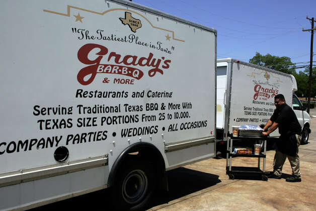 Grady's Bar-B-Q, various locations, is offering its Holiday Feast, which serves 10 and includes cornbread dressing, mashed potatoes, green beans and giblet gravy, choice of smoked turkey, $59.99, or spiral ham, $69.99. The Holiday Office Party Pack, which serves six-eight, includes a choice of 2 pounds smoked turkey breast or sliced ham and sides, $39.99. Holiday Plates, for 25+ guests, available for $7.19-$8.19 per plate. Traditional barbecue plates start at $5.65 per person. gradysbbq.com. Photo: KEVIN GEIL, Express-News/File Photo / SAN ANTONIO EXPRESS-NEWS
