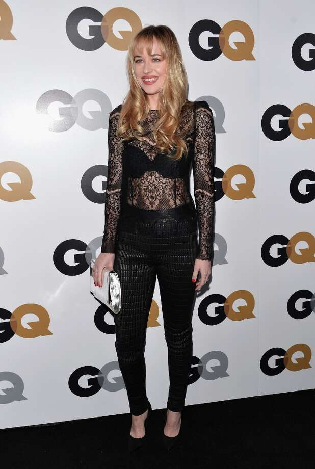 Actress Dakota Johnson arrives at the GQ Men of the Year Party at Chateau Marmont on November 13, 2012 in Los Angeles, California.  (Photo by Alberto E. Rodriguez/Getty Images) Photo: Alberto E. Rodriguez, Getty Images / 2012 Getty Images