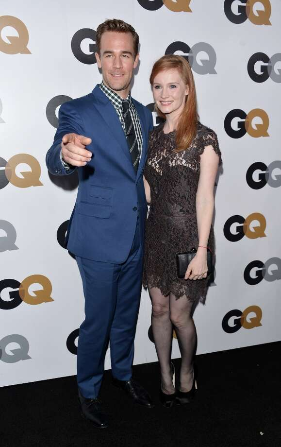 Actor James Van Der Beek and wife Kimberly Van Der Beek arrive at the GQ Men of the Year Party at Chateau Marmont on November 13, 2012 in Los Angeles, California.  (Photo by Alberto E. Rodriguez/Getty Images) Photo: Alberto E. Rodriguez, Getty Images / 2012 Getty Images