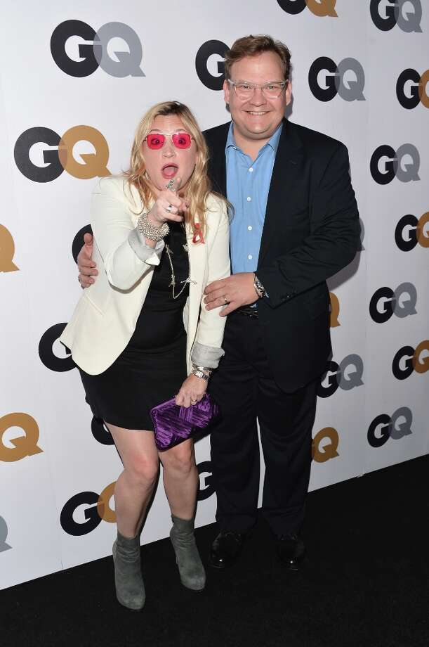 Comedian Andy Richter (R) and Sarah Thyre arrive at the GQ Men of the Year Party at Chateau Marmont on November 13, 2012 in Los Angeles, California.  (Photo by Alberto E. Rodriguez/Getty Images) Photo: Alberto E. Rodriguez, Getty Images / 2012 Getty Images