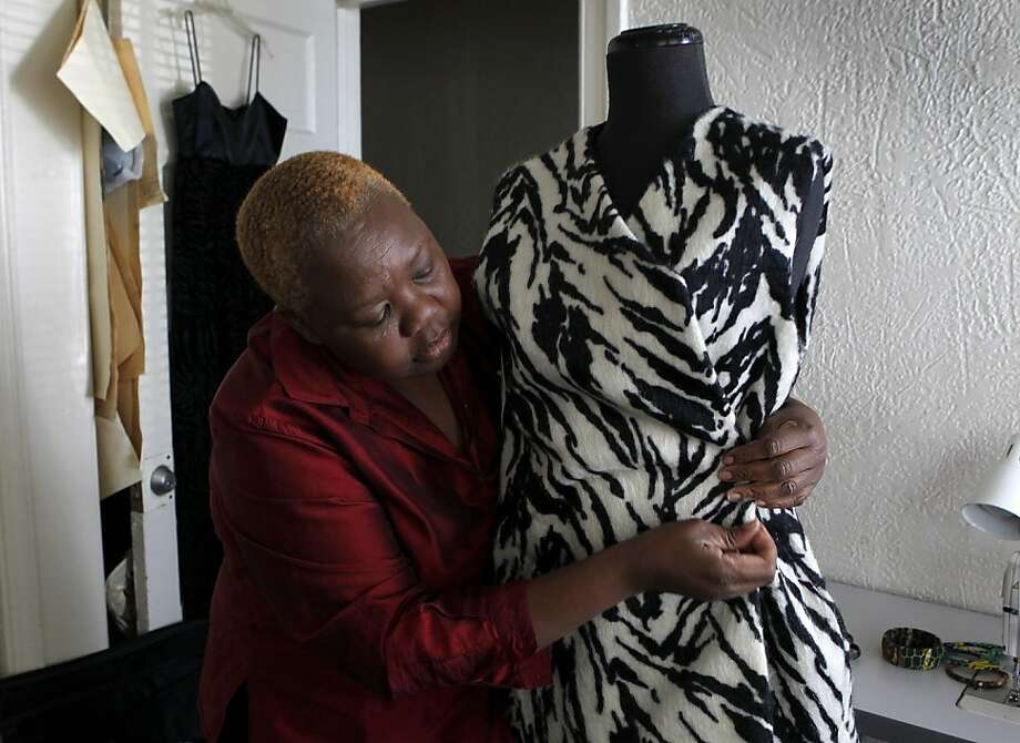 Rebekah Lwanga Peterkin began her own clothing business aided by AnewAmerica Community Corp. in Berkeley. Photo: Paul Chinn, The Chronicle