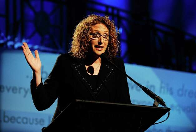 NEW YORK - NOVEMBER 10:  Actress Judy Gold speaks at The 2009 Emery Awards and 30th Anniversary of the Hetrick-Martin Institute at Cipriani, Wall Street on November 10, 2009 in New York City.  (Photo by Larry Busacca/Getty Images for Macy's) Photo: Larry Busacca / 2009 Getty Images