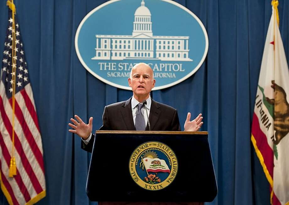 Gov. Jerry Brown, shown in Sacramento last week, rallied entrepreneurs in San Francisco. Photo: Randy Pench, Associated Press
