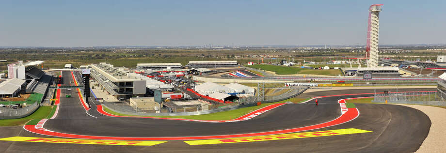 The view from the top of turn one at the Red McCombs-back Circuit of the America's just outside of Austin. The facility will host the United States Grand Prix Sunday. Photo: Robin Jerstad/For The Express-Ne