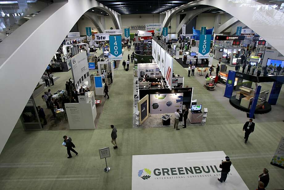 The Greenbuild conference at Moscone Center is the biggest event in terms of sustainable design. Photo: Brant Ward, The Chronicle