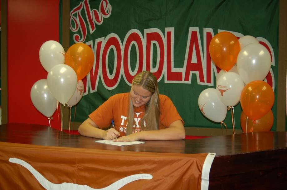 Kelsey Lang of the Woodlands signs to play of University of Texas (Courtesy of The Woodlands Athletic Department )