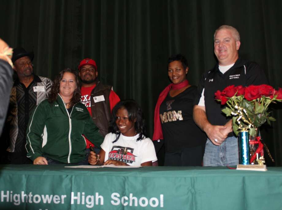 Camaury Prados-Washington of FB Hightower signs to play softball for Texas Tech University  (Courtesy of Fort Bend Athletic Department)