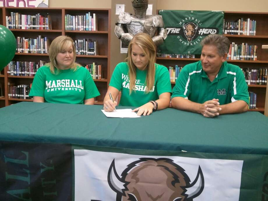 Rebecca Myslenski (Short Stop) for Clear Falls signs to play for Marshall University  (Courtesy of Clear Falls Athletic Department )