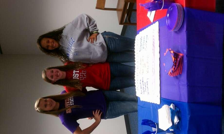 Amanda Fulkerson (Northwestern), Jordan Rains (Houston), Mariah Gibson (Blinn College) (Courtesy of Cy Fair Athletic Department)