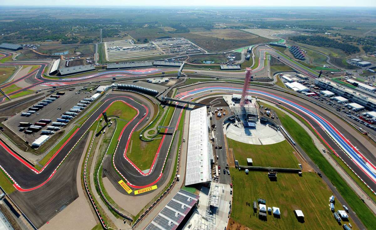 The Circuit of the Americas race track is seen in this Wednesday morning Nov. 14, 2012 aerial photo four days before the track's inaugural Formula 1 United States Grand Prix.