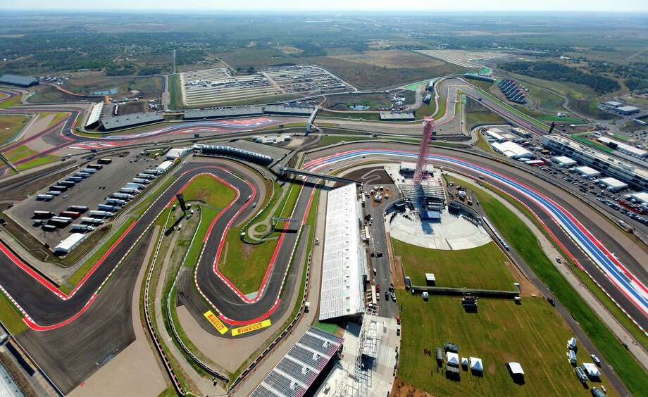 The Circuit of the Americas race track is seen in this Wednesday morning Nov. 14, 2012 aerial photo four days before the track's inaugural Formula 1 United States Grand Prix. Photo: William Luther, San Antonio Express-News / © 2012 San Antonio Express-News