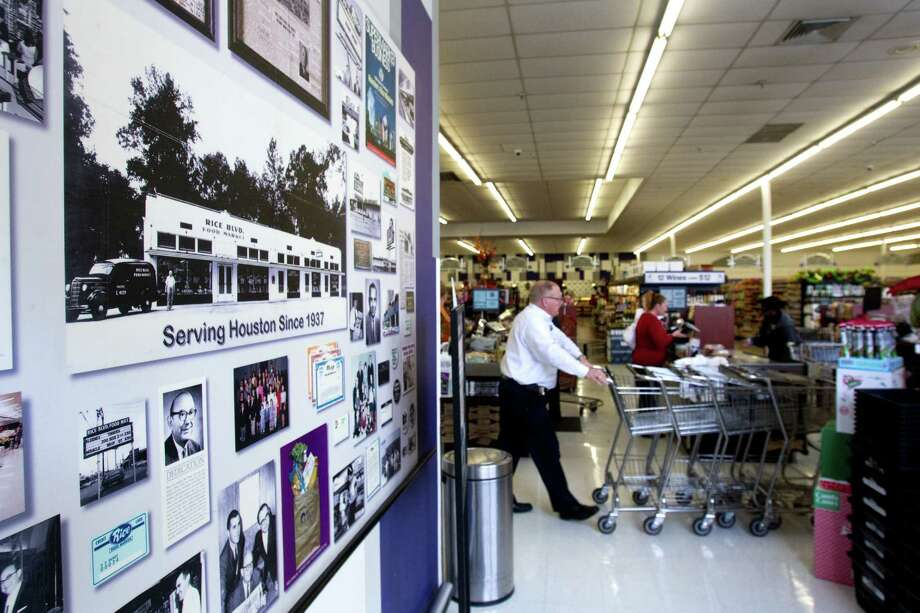 Historical photos are on display near the front of the Rice Epicurean Market in River Oaks. The company goes back 75 years. Photo: Brett Coomer, Houston Chronicle / © 2012 Houston Chronicle