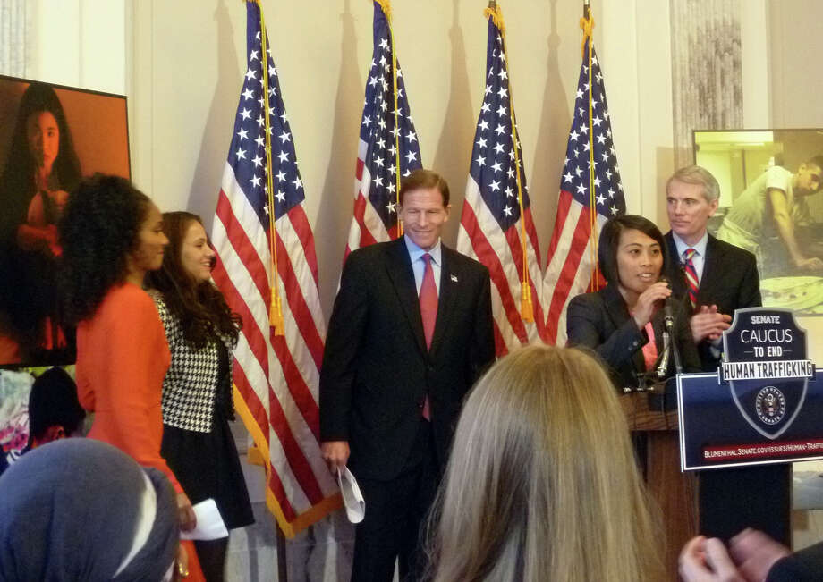On Wednesday Nov. 14, Senator Richard Blumenthal (D-Conn.) and Senator Rob Portman (R-Ohio) announced the launch of the Senate Caucus to End Human Trafficking. Photo: Contributed Photo / Connecticut Post Contributed