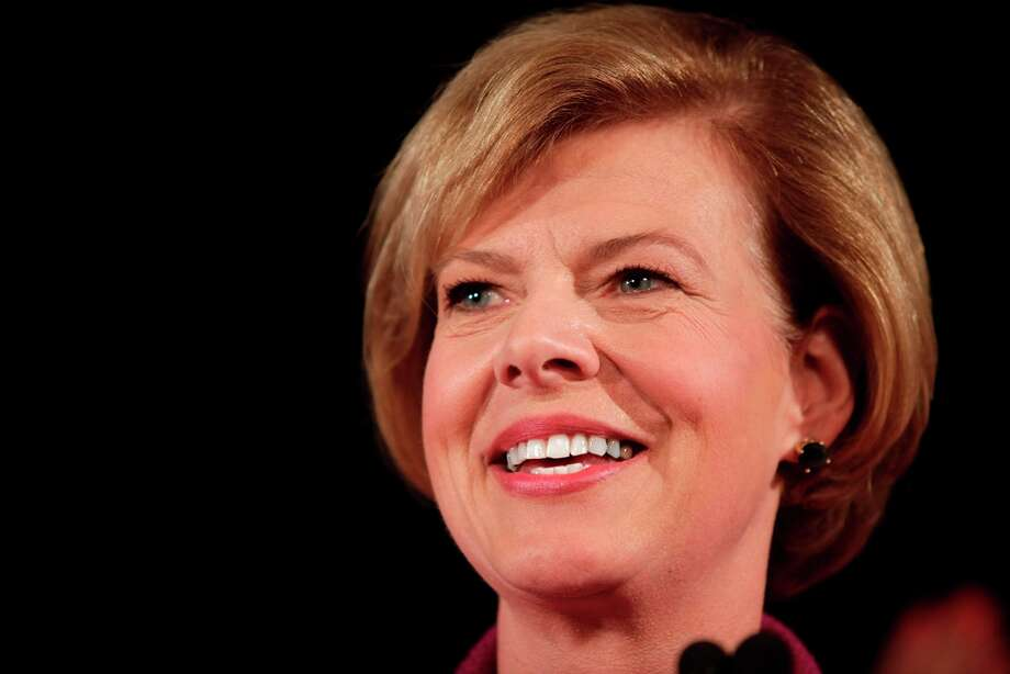 MADISON, WI  - NOVEMBER 6:   U.S. Senate candidate U.S. Rep. Tammy Baldwin (D-WI) celebrates her victory over Republican candidate Tommy Thompson on election night on November 6, 2012 in Madison, Wisconsin. With tonight's win, Baldwin became Wisconsin's first openly gay Senator. (Photo by Darren Hauck/Getty Images) Photo: Darren Hauck, Getty Images / 2012 Getty Images